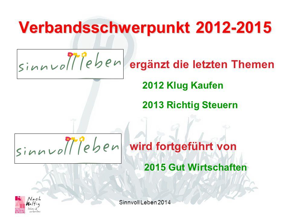 Verbandsschwerpunkt 2012-2015