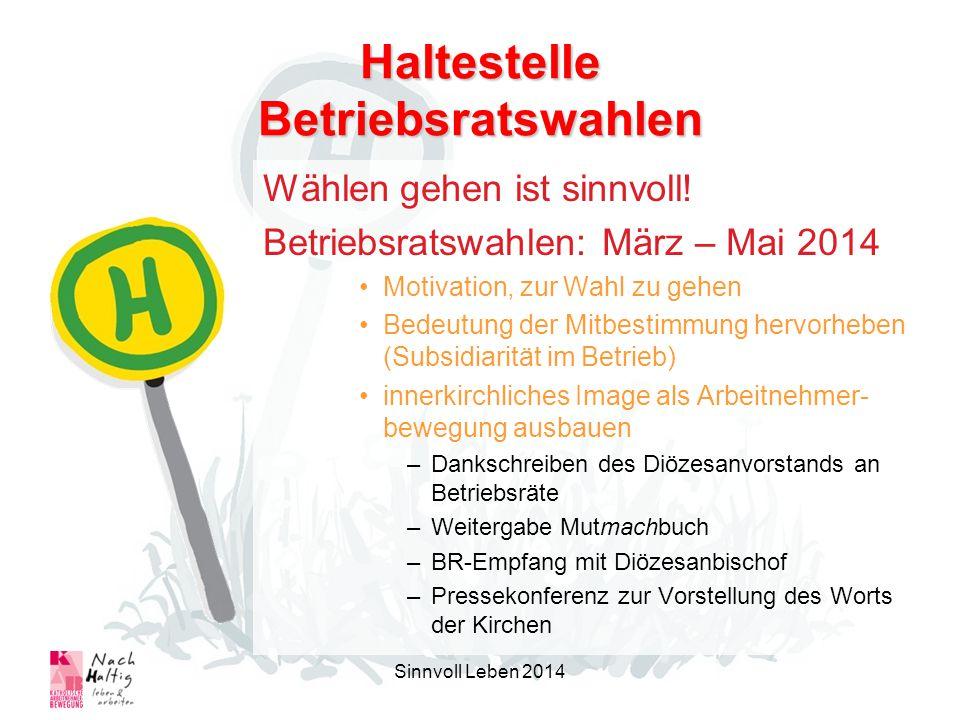 Haltestelle Betriebsratswahlen