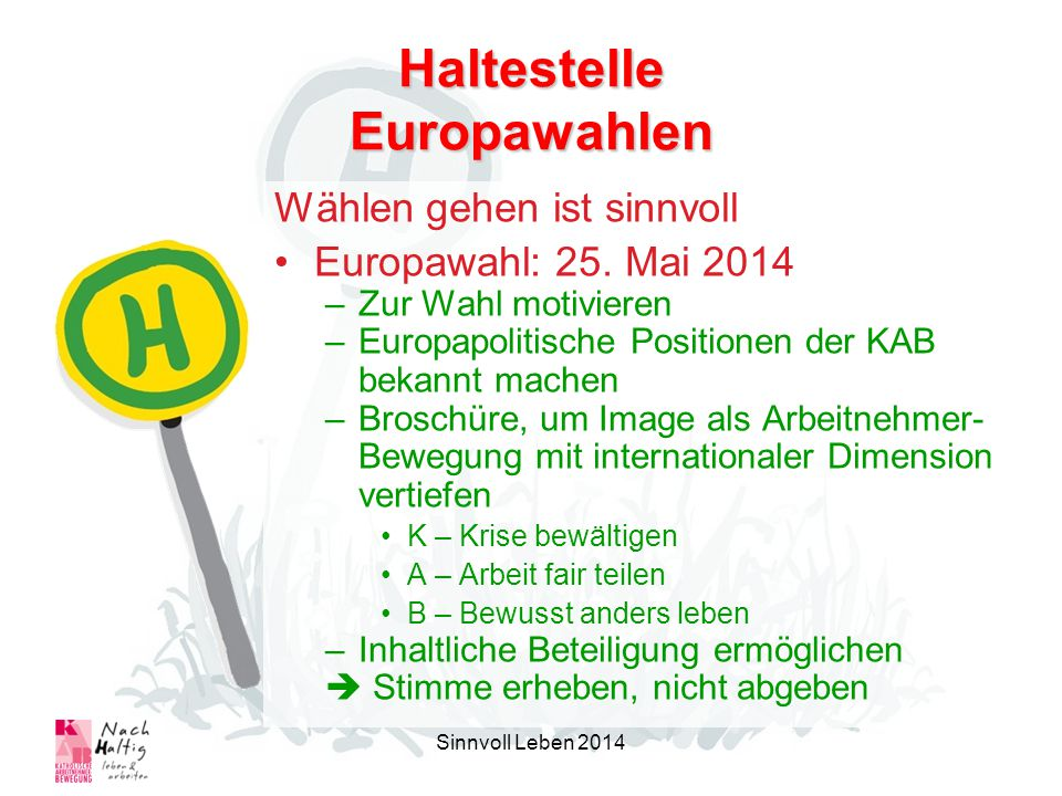 Haltestelle Europawahlen