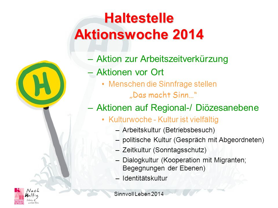 Haltestelle Aktionswoche 2014