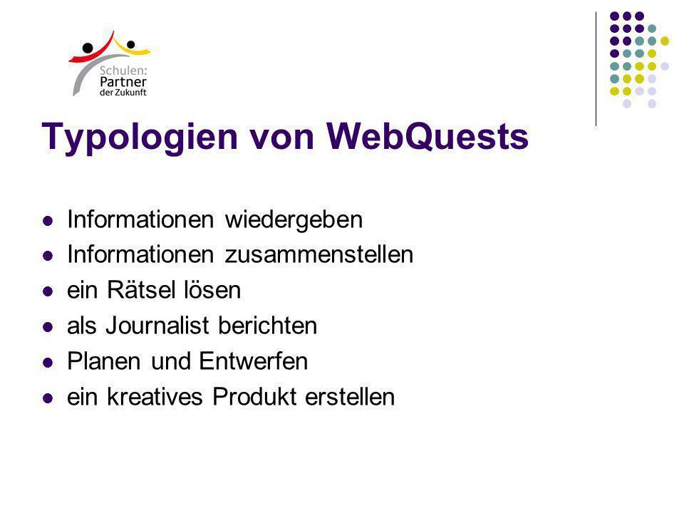 Typologien von WebQuests