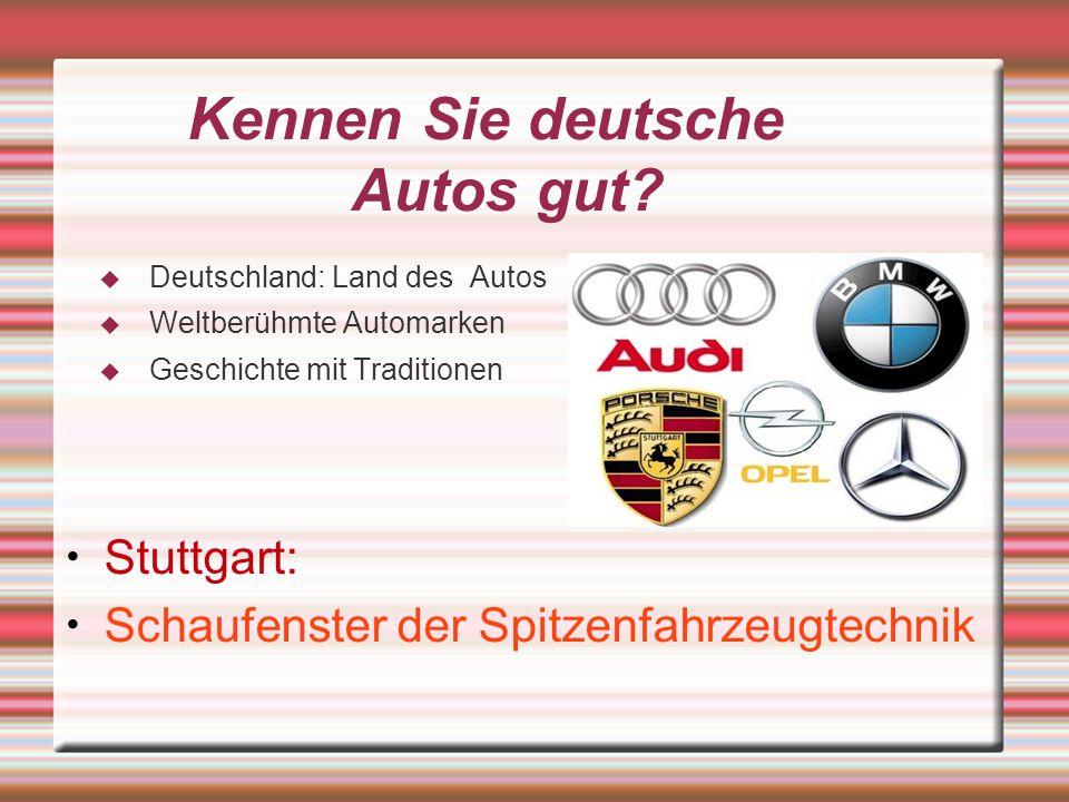 Kennen Sie deutsche Autos gut