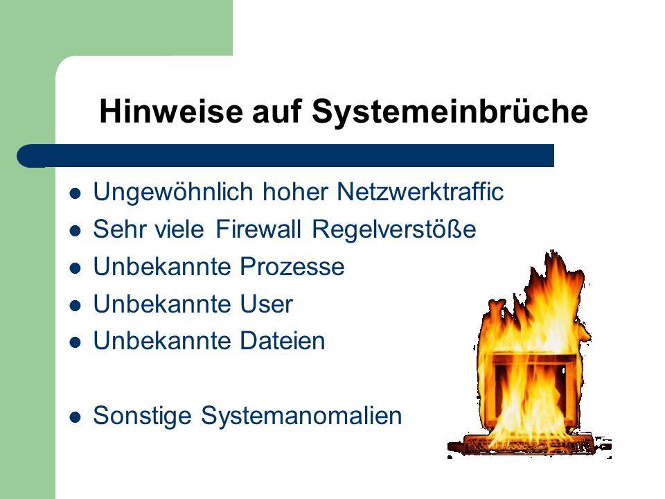 Hinweise auf Systemeinbrüche