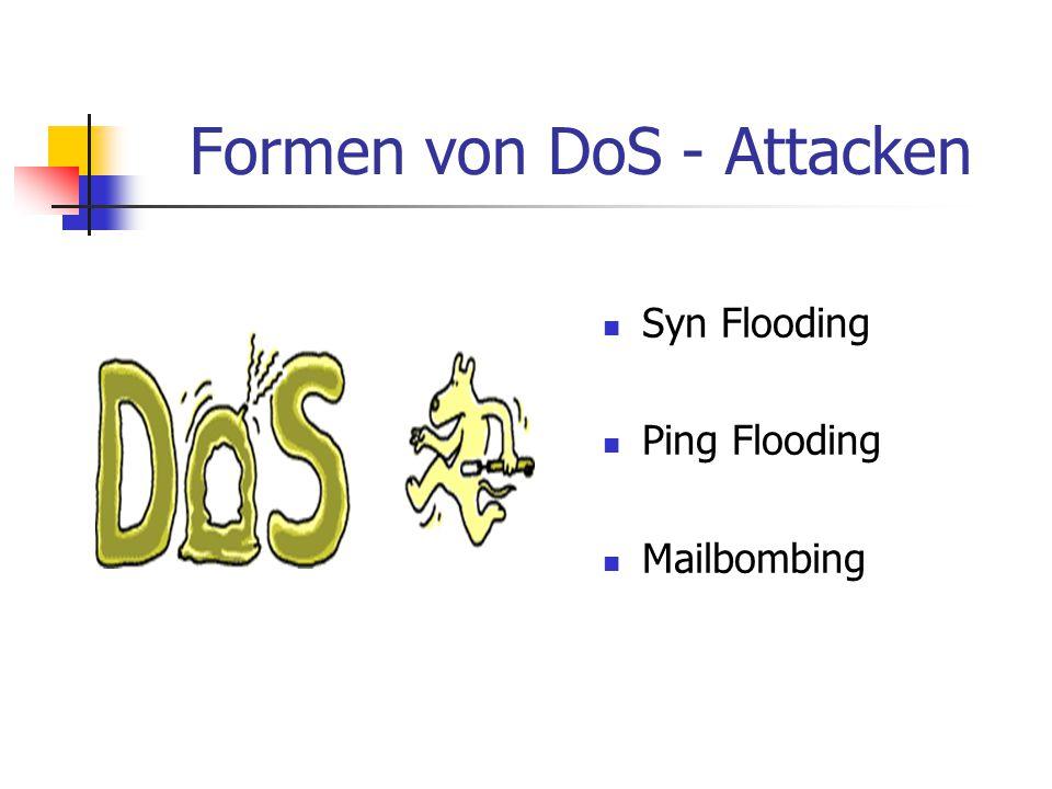 Formen von DoS - Attacken
