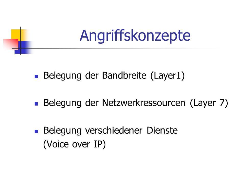 Angriffskonzepte Belegung der Bandbreite (Layer1)