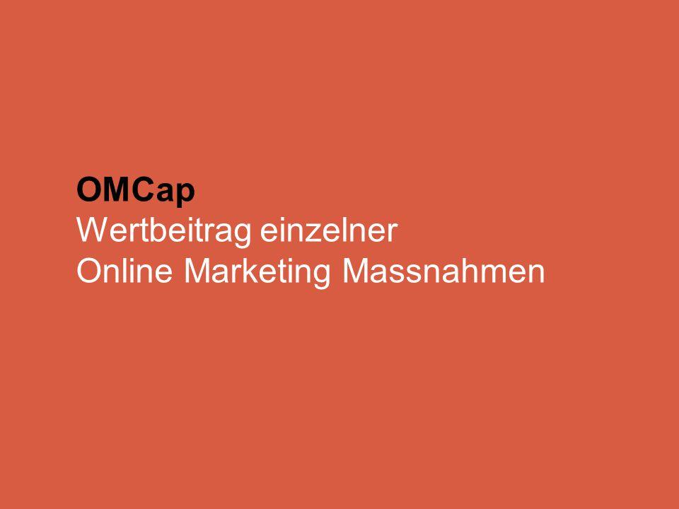 OMCap Wertbeitrag einzelner Online Marketing Massnahmen