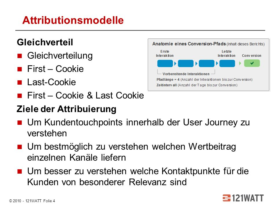 Attributionsmodelle Gleichverteil Gleichverteilung First – Cookie