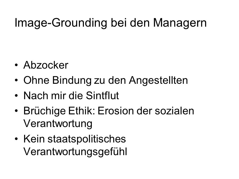 Image-Grounding bei den Managern