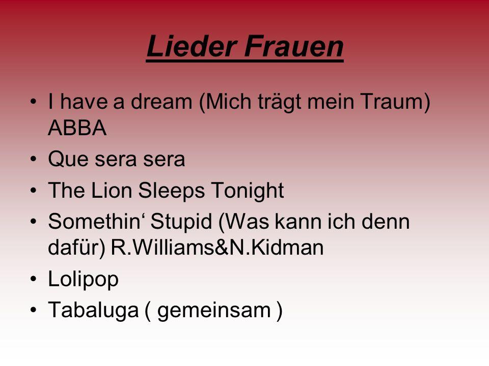 Lieder Frauen I have a dream (Mich trägt mein Traum) ABBA