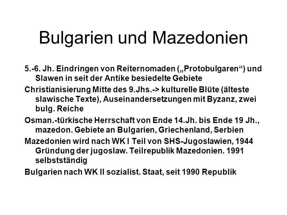 Bulgarien und Mazedonien