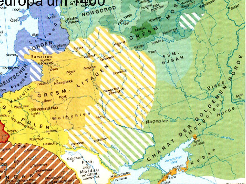 Osteuropa um 1400