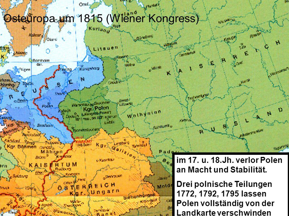 Osteuropa um 1815 (Wiener Kongress)