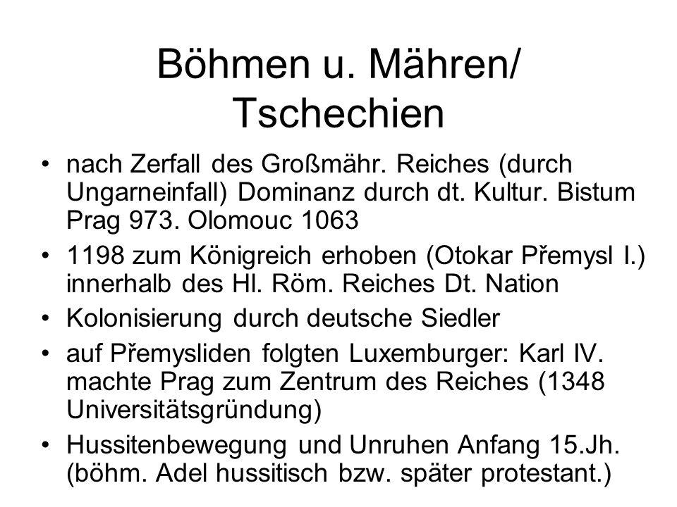 Böhmen u. Mähren/ Tschechien