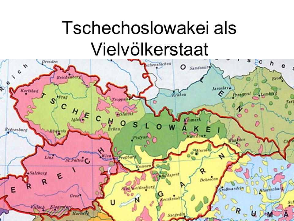 Tschechoslowakei als Vielvölkerstaat