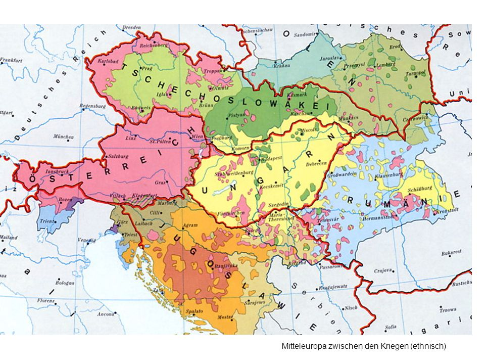 Mitteleuropa zwischen den Kriegen (ethnisch)