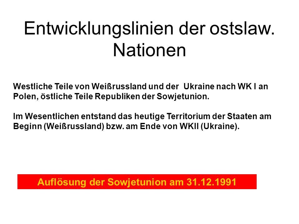 Auflösung der Sowjetunion am 31.12.1991