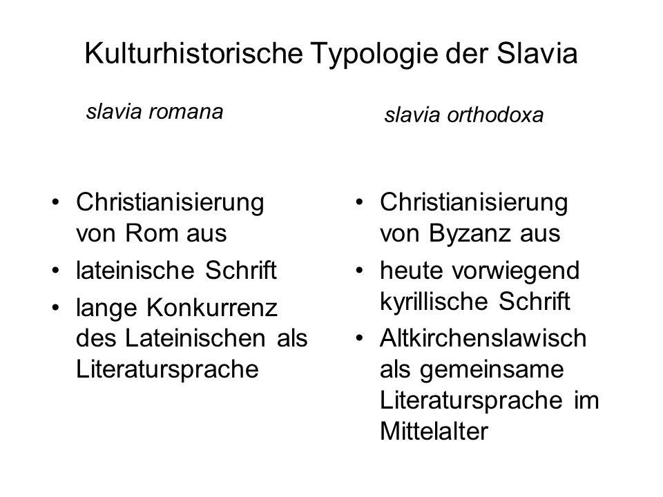 Kulturhistorische Typologie der Slavia