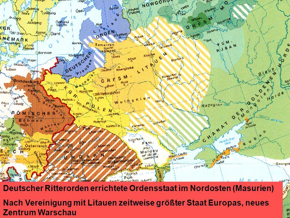 Deutscher Ritterorden errichtete Ordensstaat im Nordosten (Masurien)