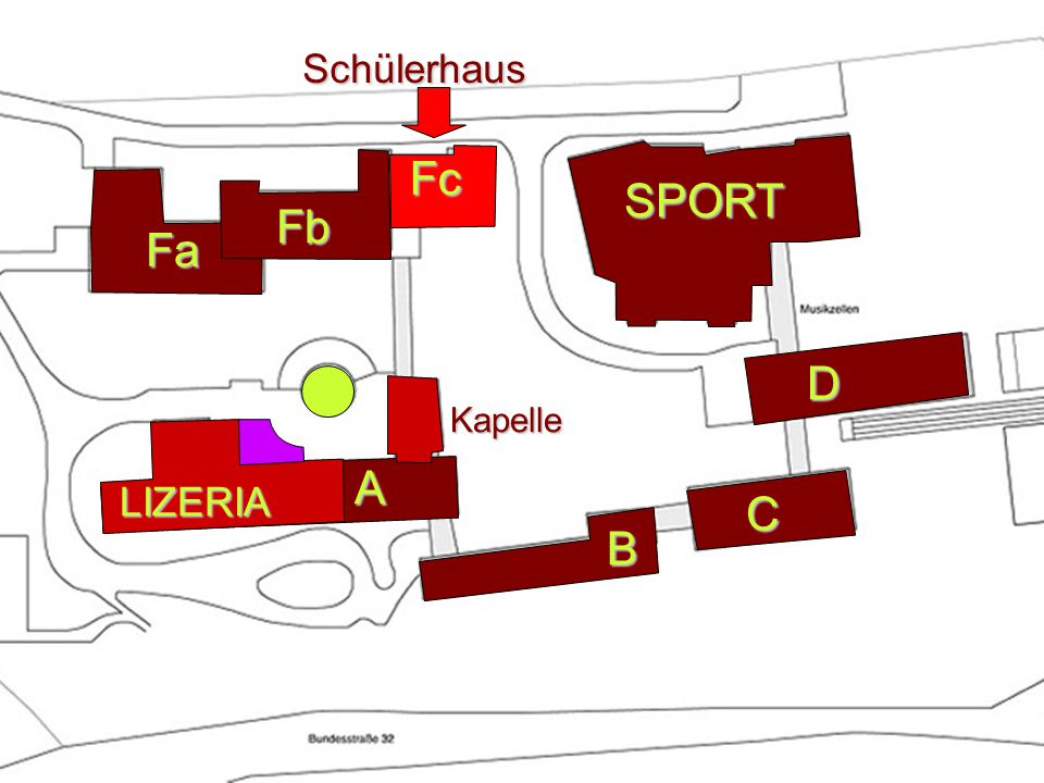 Schülerhaus Fc Fa A B SPORT D C Fb Kapelle LIZERIA