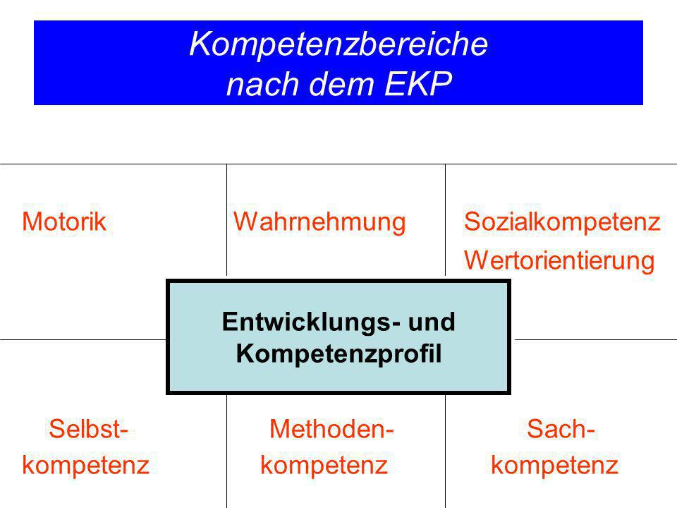 Kompetenzbereiche nach dem EKP