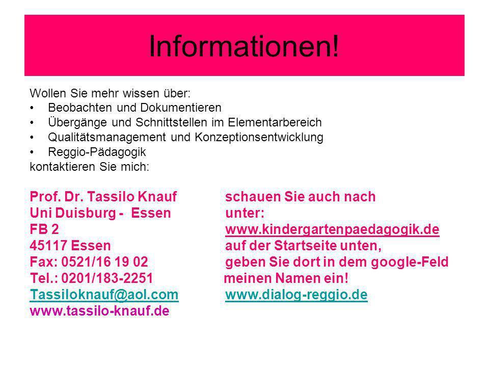 Informationen! Prof. Dr. Tassilo Knauf schauen Sie auch nach