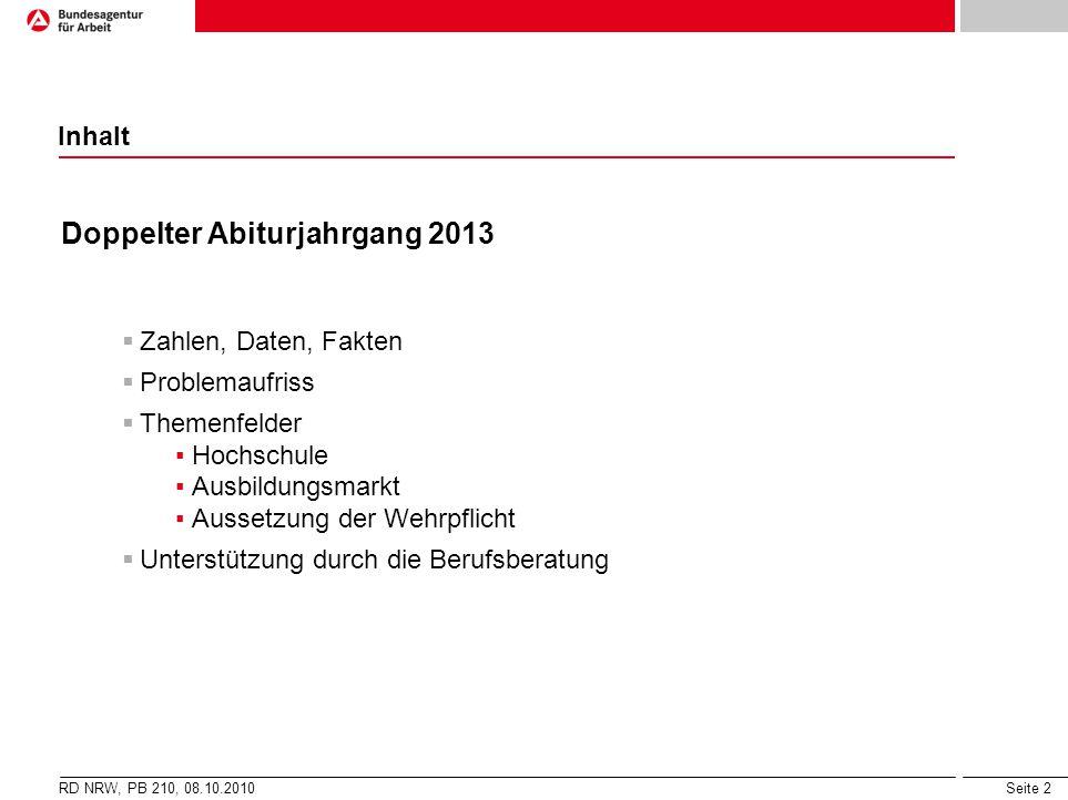 Doppelter Abiturjahrgang 2013