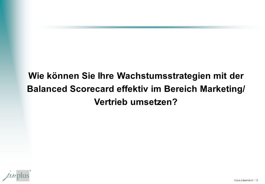 Wie können Sie Ihre Wachstumsstrategien mit der Balanced Scorecard effektiv im Bereich Marketing/ Vertrieb umsetzen