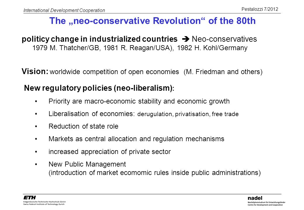 "The ""neo-conservative Revolution of the 80th"