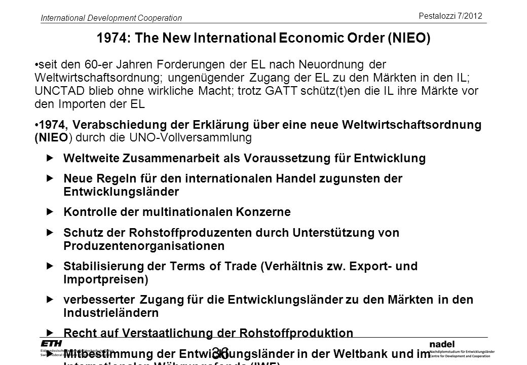1974: The New International Economic Order (NIEO)