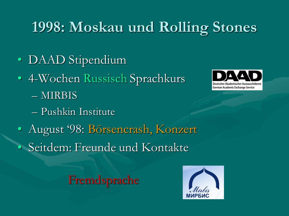 1998: Moskau und Rolling Stones