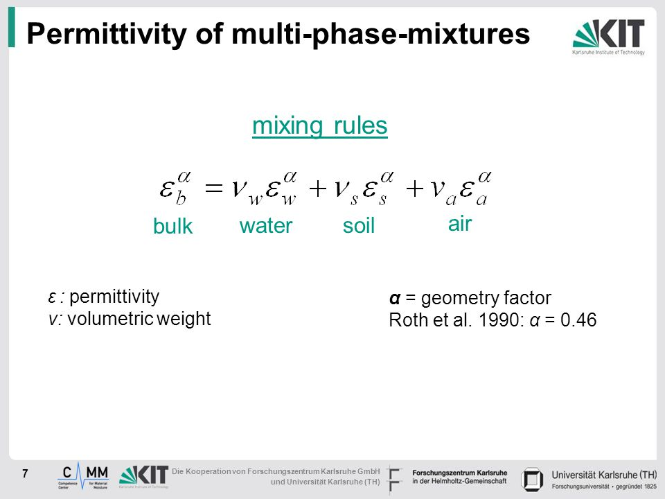 Permittivity of multi-phase-mixtures