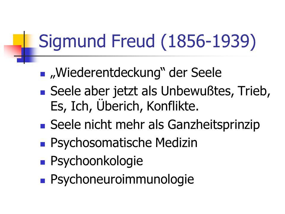"""Sigmund Freud (1856-1939) """"Wiederentdeckung der Seele"""