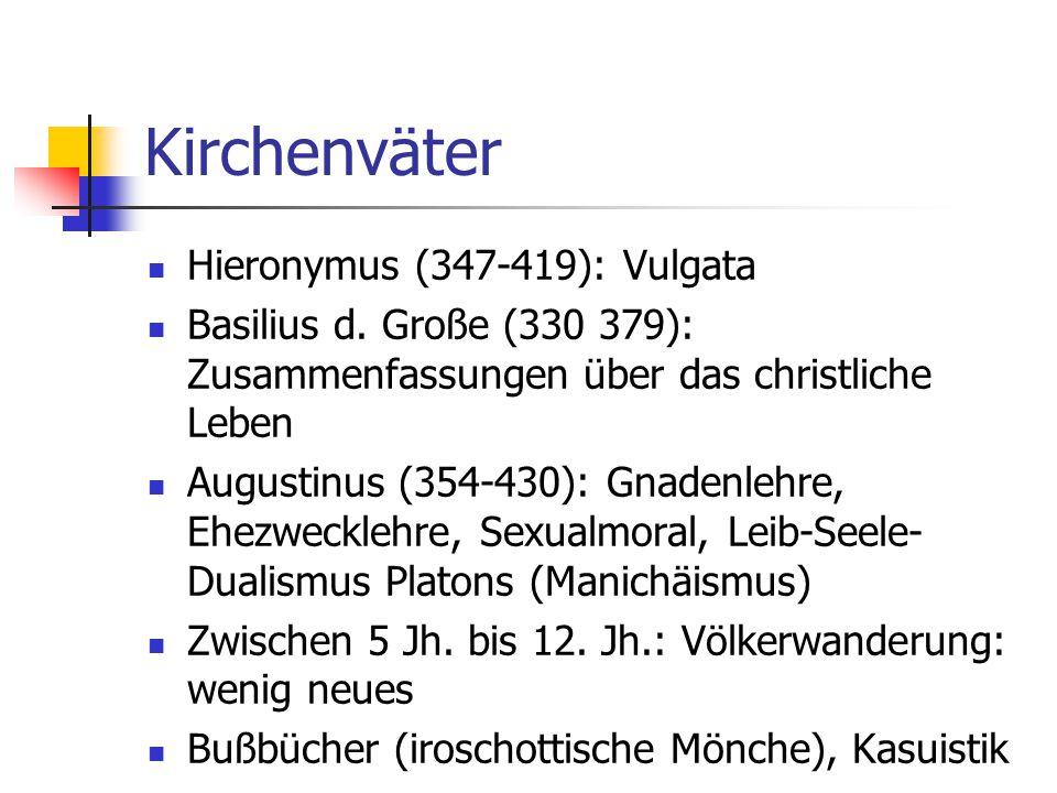 Kirchenväter Hieronymus (347-419): Vulgata