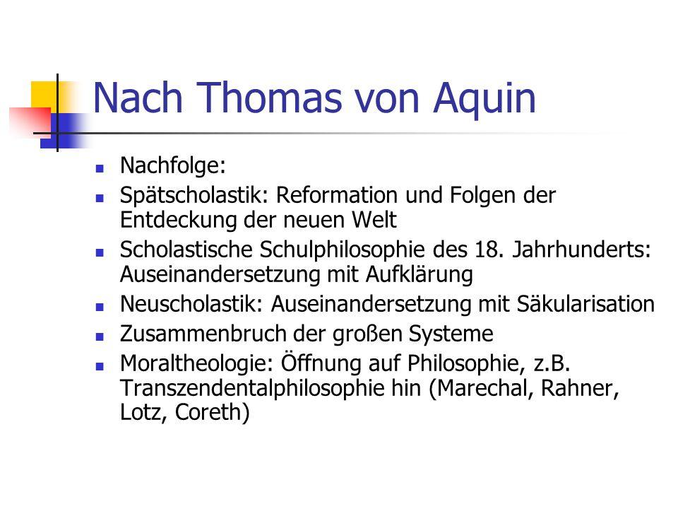 Nach Thomas von Aquin Nachfolge: