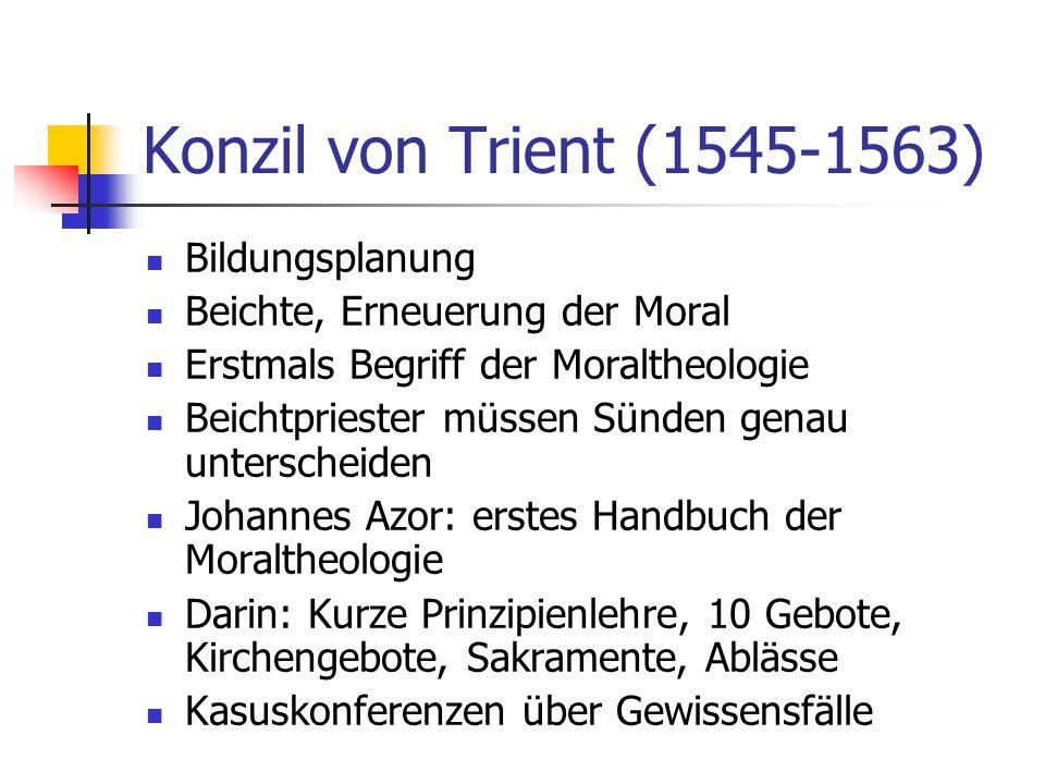 Konzil von Trient (1545-1563) Bildungsplanung