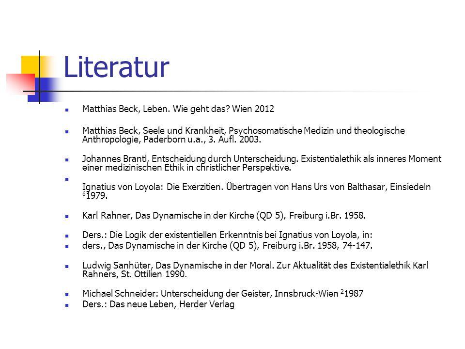 Literatur Matthias Beck, Leben. Wie geht das Wien 2012
