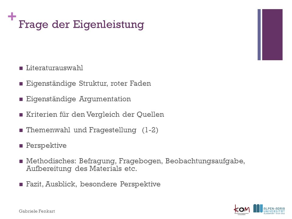 Frage der Eigenleistung