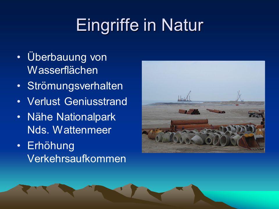 Eingriffe in Natur Überbauung von Wasserflächen Strömungsverhalten