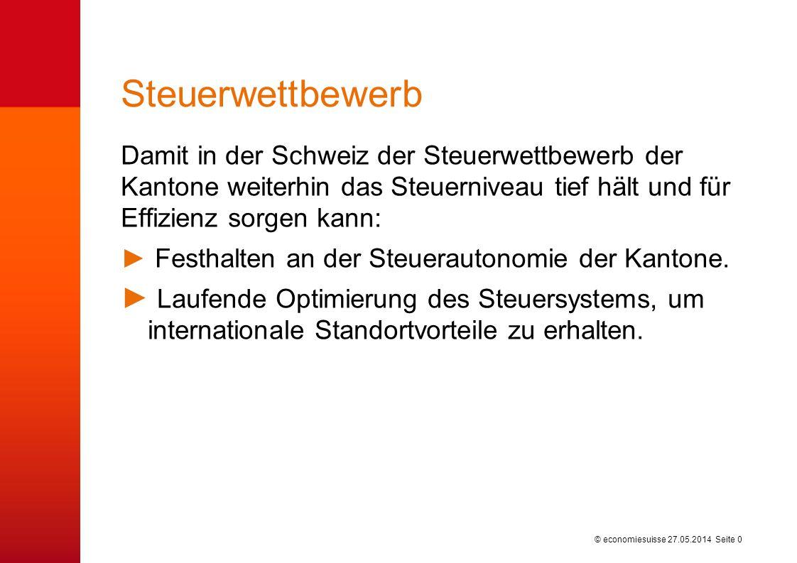 Mittelstand profitiert vom kantonalen Steuerwettbewerb