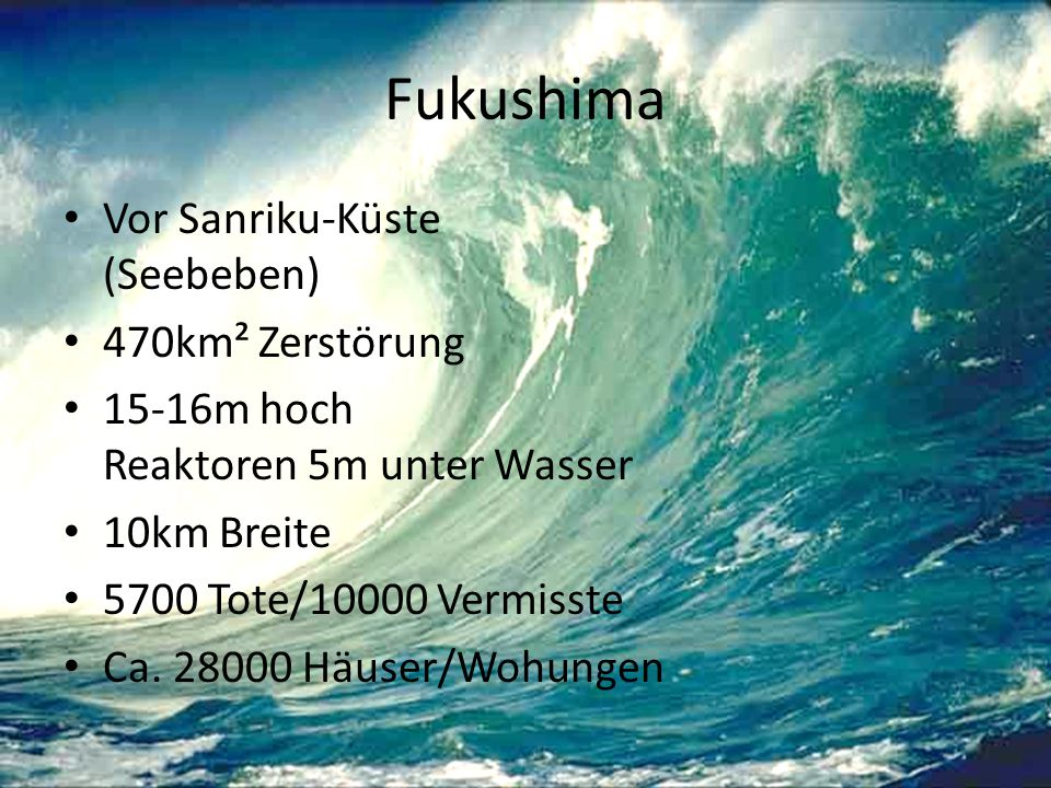 Fukushima Vor Sanriku-Küste (Seebeben) 470km² Zerstörung