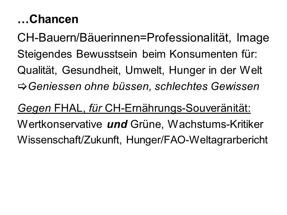 CH-Bauern/Bäuerinnen=Professionalität, Image