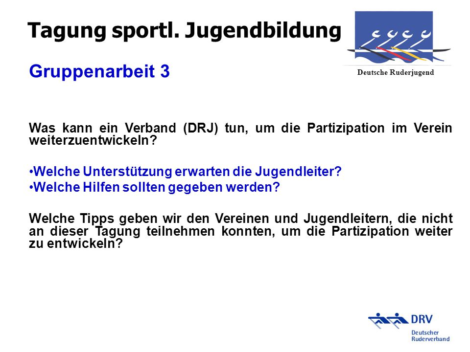 Tagung sportl. Jugendbildung