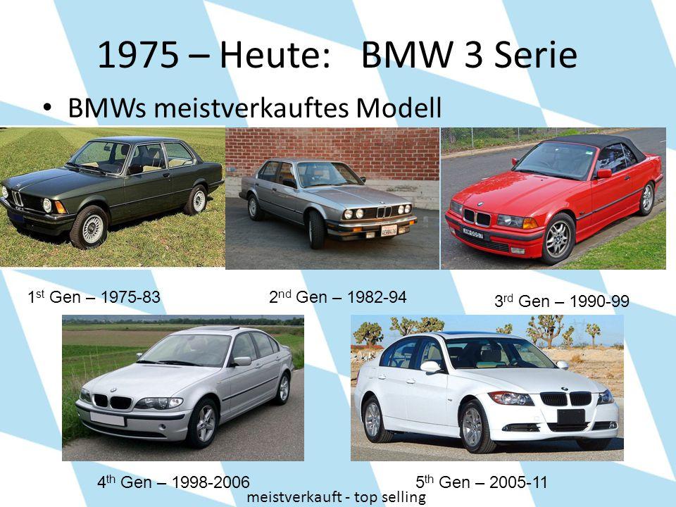 1975 – Heute: BMW 3 Serie BMWs meistverkauftes Modell