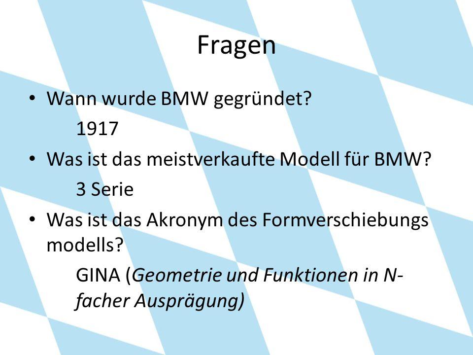 Fragen Wann wurde BMW gegründet 1917