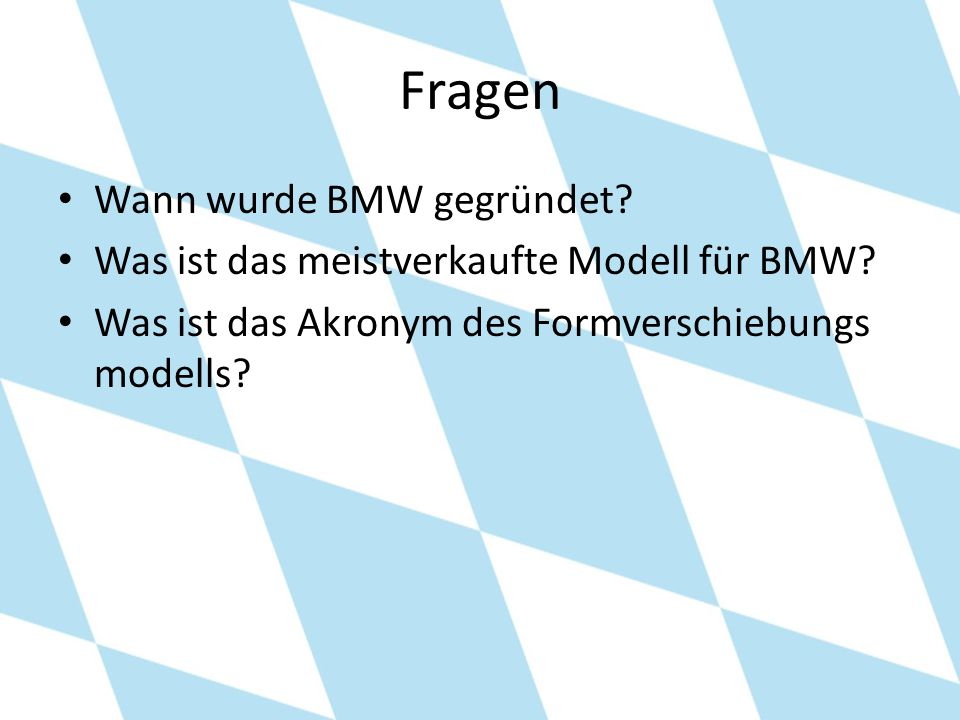 Fragen Wann wurde BMW gegründet