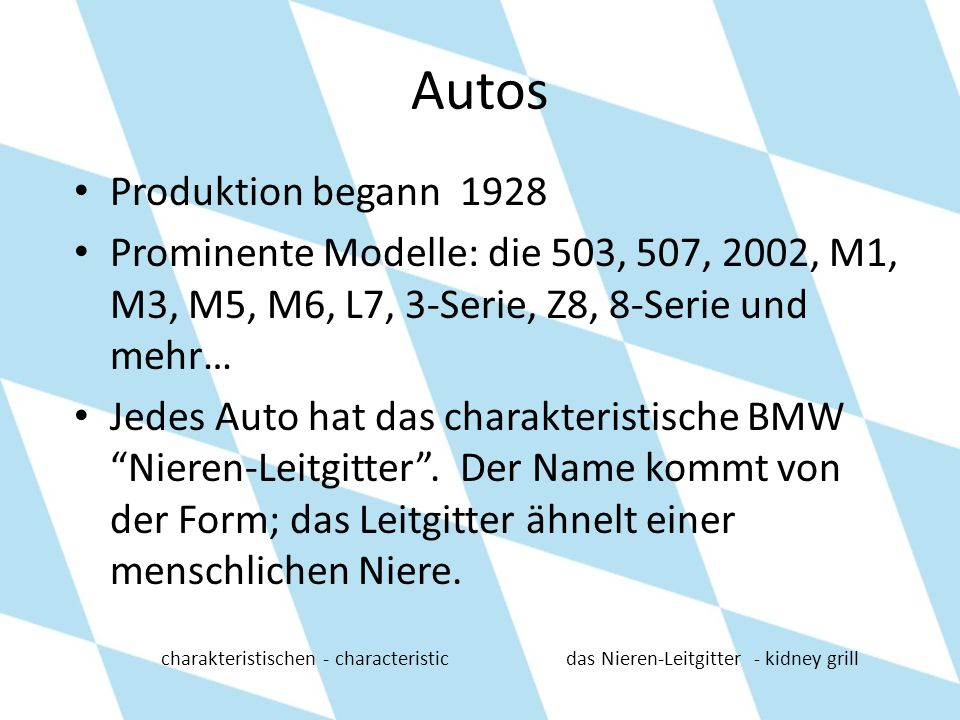 Autos Produktion begann 1928