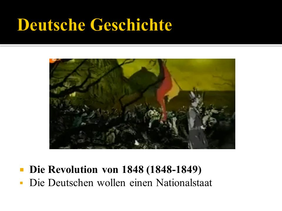 Deutsche Geschichte Die Revolution von 1848 (1848-1849)