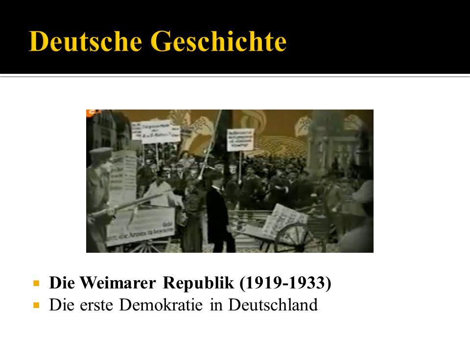 Deutsche Geschichte Die Weimarer Republik (1919-1933)