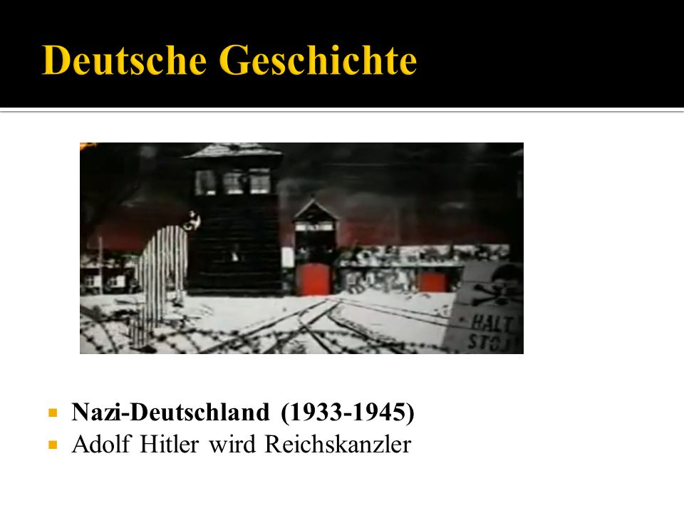 Deutsche Geschichte Nazi-Deutschland (1933-1945)