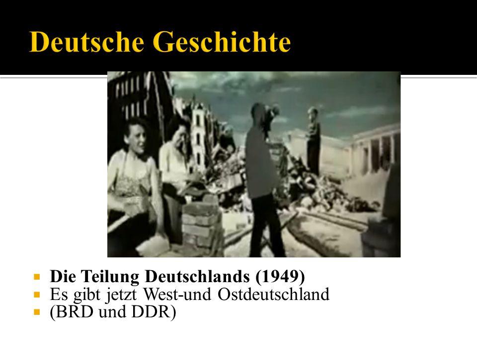 Deutsche Geschichte Die Teilung Deutschlands (1949)